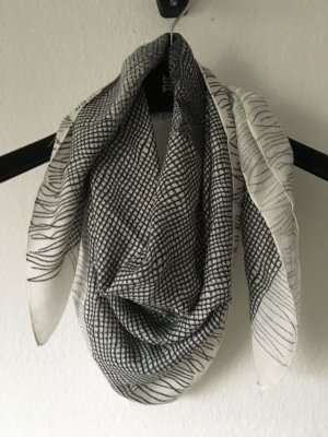 Riani Carree Schal Tuch Modal schwarz weiß Schleifen Print