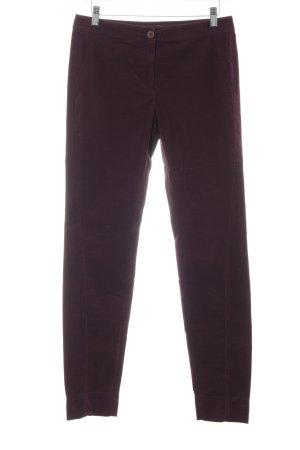 Riani Pantalon en velours côtelé rouge mûre style décontracté