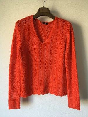 Riani Cropped Pullover 34 orange Strick