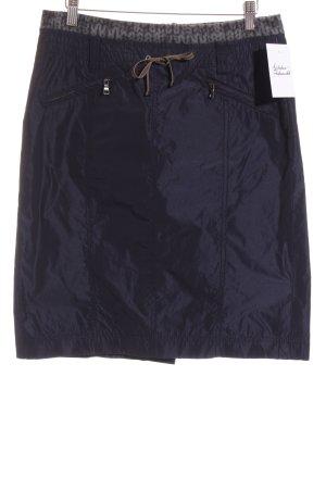 Riani High Waist Rock dunkelblau-grau sportlicher Stil