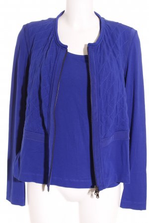 Riani Twin set in jersey blu motivo trapuntato stile casual