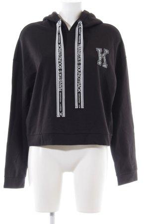 Riani Kapuzensweatshirt schwarz-weiß Casual-Look