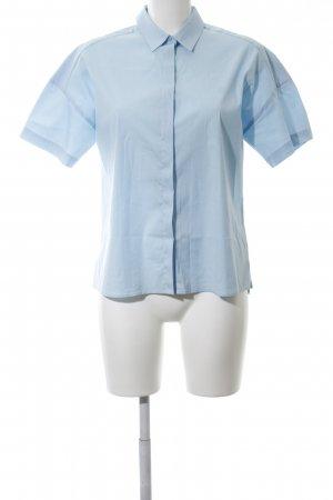 Riani Kurzarm-Bluse blau Business-Look