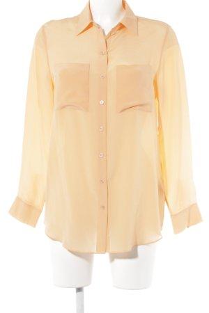 Riani Langarm-Bluse apricot schlichter Stil