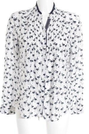 Riani Langarm-Bluse weiß-schwarz Motivdruck Street-Fashion-Look