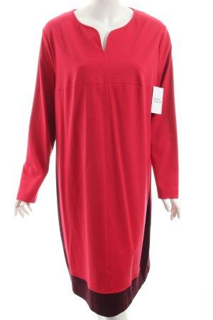 Riani Langarmkleid rot-braunviolett minimalistischer Stil
