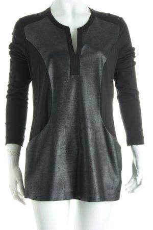 Riani Longshirt schwarz Leder-Optik