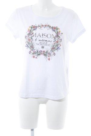 Riani Print-Shirt weiß Motivdruck Casual-Look