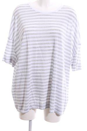Riani Camisa de rayas blanco-gris claro estampado a rayas look casual