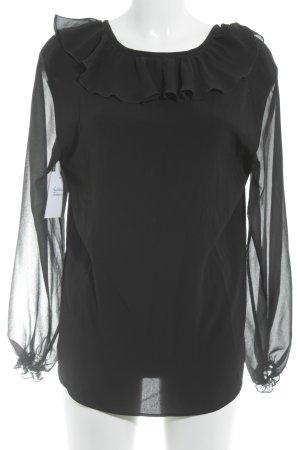 Riani Rüschen-Bluse schwarz Casual-Look