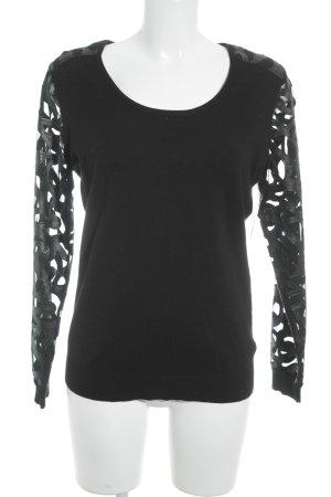 Riani Rundhalspullover schwarz Street-Fashion-Look
