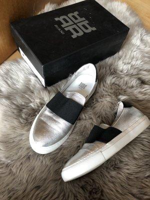 Riani Schuhe slipper Silber neu 38