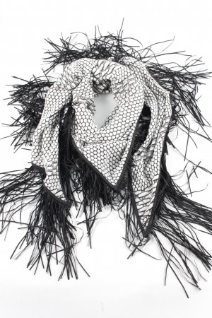 Riani Shoulder Scarf white-black allover print casual look