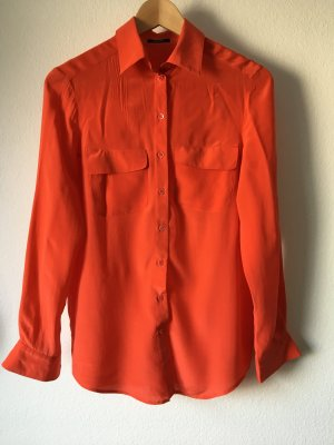 Riani Seidenbluse Orange 100% Seide 36