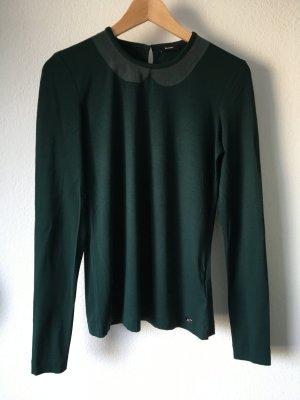 Riani Shirt Oberteil Bubikragen Seide Grün 36