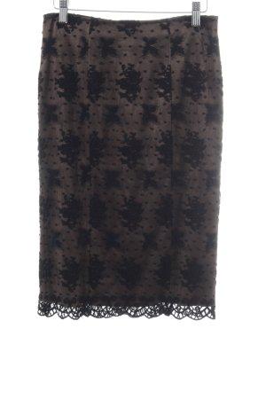 Riani Spitzenrock bronzefarben-schwarz abstraktes Muster Elegant