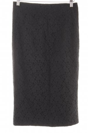 Riani Lace Skirt dark blue-black floral pattern business style