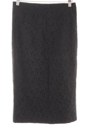Riani Kanten rok donkerblauw-zwart bloemen patroon zakelijke stijl