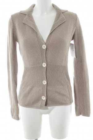 Riani Strick Cardigan beige Zopfmuster Casual-Look