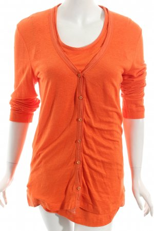 Riani Strick Twin Set neonorange schlichter Stil