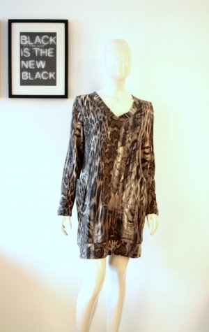 Riani Strickkleid Shirt Leo Animal Print Angora Gr 40 Blogger Herbst Winter