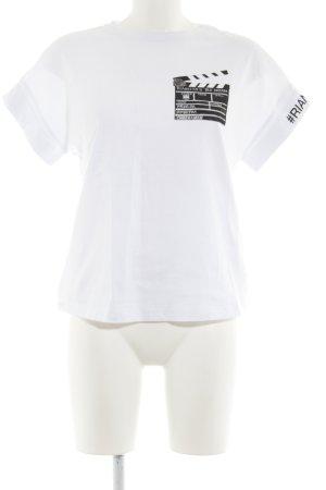 Riani T-Shirt weiß-schwarz Motivdruck Casual-Look