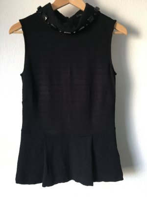 Riani Top Shirt Schösschen Peplum schwarz 34
