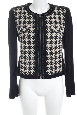 Riani Übergangsjacke schwarz-creme abstraktes Muster Casual-Look