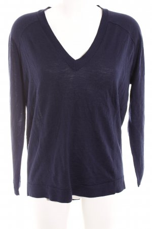 Riani V-Ausschnitt-Pullover dunkelblau Street-Fashion-Look