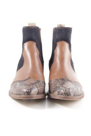 Riani Western Booties brown-black animal pattern extravagant style