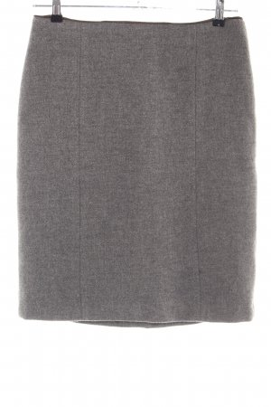 Riani Wool Skirt light grey flecked business style