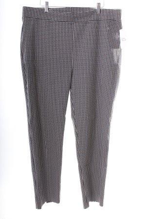 Ribkoff Stretchhose schwarz-wollweiß abstraktes Muster Business-Look