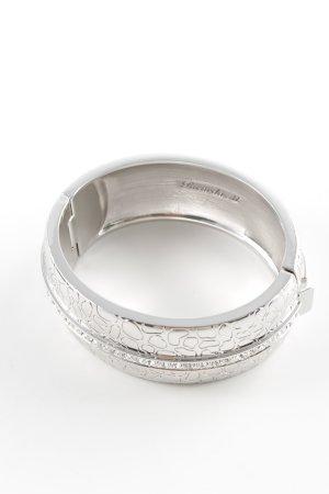 Ricarda M Bangle silver-colored animal pattern elegant