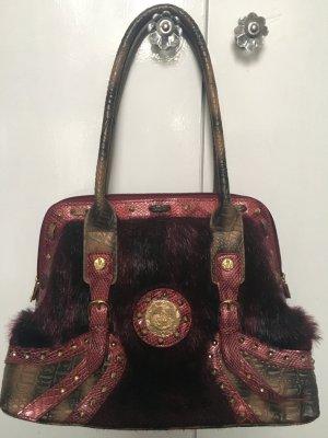 Ricarda M. Designer Tasche mit Fell und Geldbeutel edel und apart
