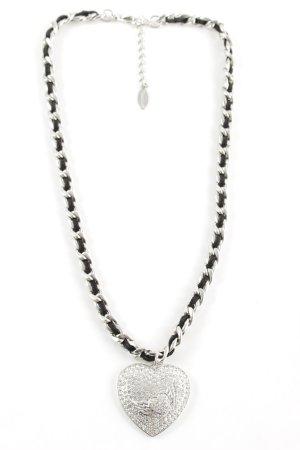Ricarda M Halskette schwarz-silberfarben Elegant