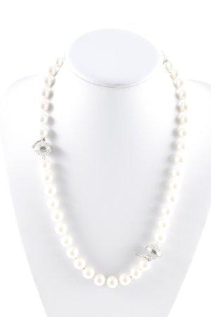 Ricarda M Pearl Necklace cream-silver-colored elegant