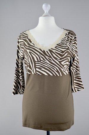 Ricarda M. Shirt mit Spitze olivgrün Größe 46