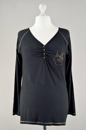 Ricarda M. Shirt mit Steinen schwarz Größe 46