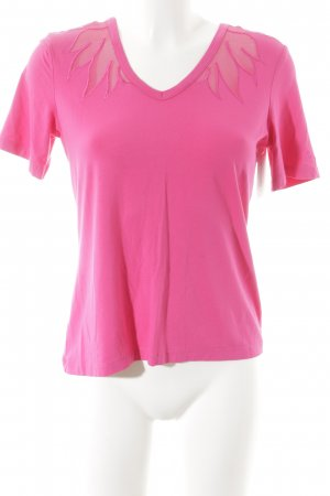 Ricarda M T-Shirt pink grafisches Muster Casual-Look