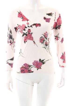 Ricci Andrist V-Ausschnitt-Pullover florales Muster Casual-Look