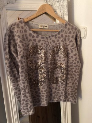 Rich and Royal Pullover Gr. S Beige Gold Leo