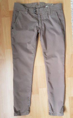 Rich&Royal 7/8 Chino Hose Slim Pant taupe W28 Neuwertig NP.130€