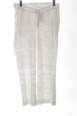 Rich & Royal 7/8-broek wit grafisch patroon simpele stijl