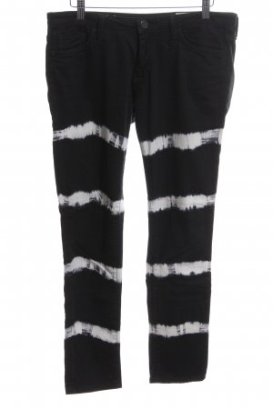 Rich & Royal 7/8 Length Jeans black-white striped pattern casual look