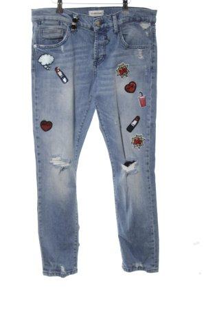 Rich & Royal 7/8 Jeans blau-weiß Street-Fashion-Look