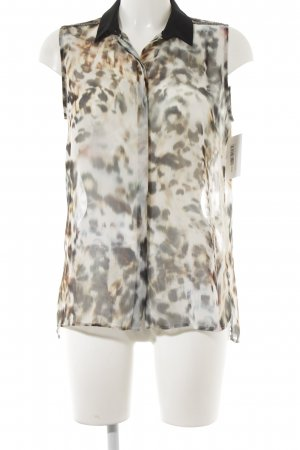 Rich & Royal Sleeveless Blouse leopard pattern extravagant style