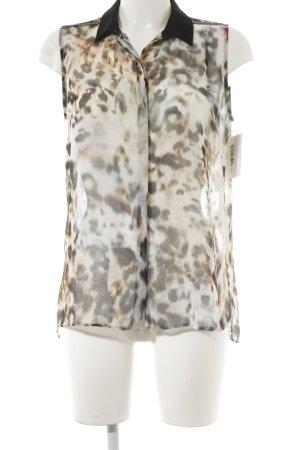 Rich & Royal ärmellose Bluse Leomuster extravaganter Stil
