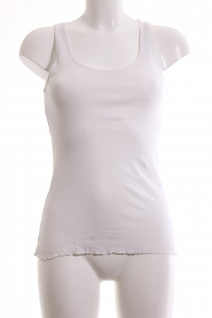 Rich & Royal Top basic bianco stile casual