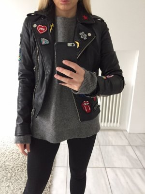 Rich & Royal Biberlederjacke mit Patches