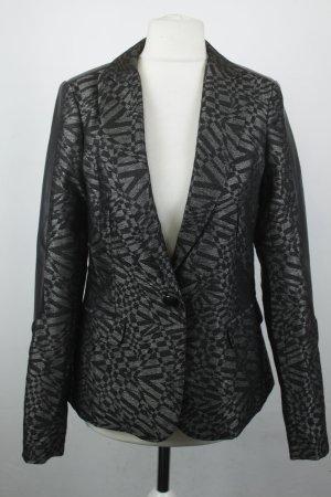 Rich & Royal Blazer Gr. 34 schwarz grau glänzend